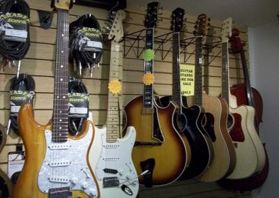 Guitars-Acoustic-Electric-Cords-Strings-Picks-Stands Trader-Jons